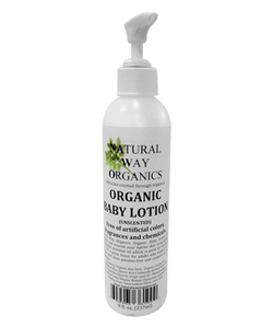 Organic Baby Lotion Unscented 8 Oz 237ml